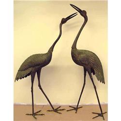 Yoshida Susumu Bronze Japanese crane Statues #2393379