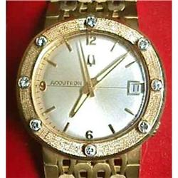 18kt Gold Bulova Accutron Watch 18k Wristwatch #2393382