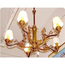 Gas bronze chandelier  converted   #2393391