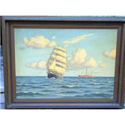 Marine oil on canvas ship by Sven Drews #2393414