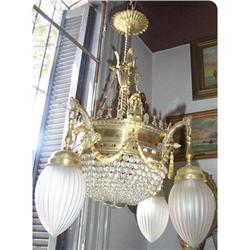 Empire style  French Chandelier 8 lights #2393423