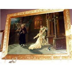 Old Master oil  painting French gilt frame  #2393428
