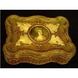 Antique French Bronze Jewel  Box #2393442