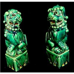 Pair of Antique  Chinese Fu Dogs #2393444