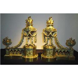 EMPIRE BRONZE ANDIRONS #2393458