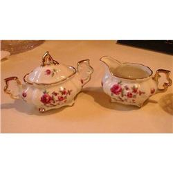 Roses and Violets Creamer and Sugar Bowl with #2359844