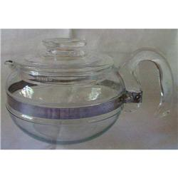 Pyrex Blue Flame Tea Pot 6 Cup #8446B #2359845