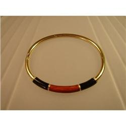 Bangle  14ct.  Gold  with  Black  and  Brown  #2359860