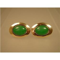Cufflinks  14ct.  Chrysoprase #2359861