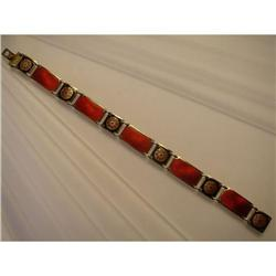 Bracelet  Silver  Gilt  Red and Black  Enamel #2359866