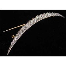 Edwardian Platinum & Diamond Pin - 3 Carats #2359884