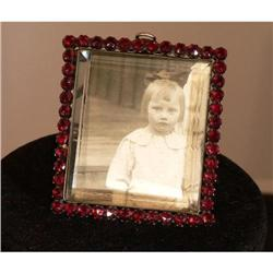 Antique Victorian Garnet Picture Frame #2359885