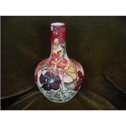 French Limoges Art Nouveau Hp Vase #2359890