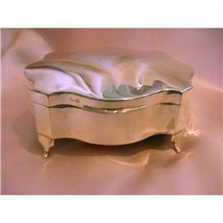 English Sterling Silver Jewelry Box #2359892