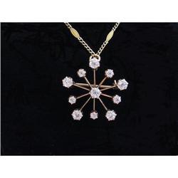 Victorian 14K Diamond Necklace- 2.25 Carats #2359898