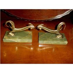 Art Deco Stylized Rooster Bookends #2359900