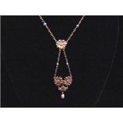18K French Art Nouveau Necklace #2359901