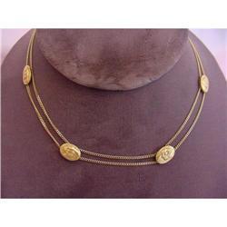 Art Nouveau Gold Panther Necklace #2359907