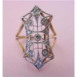 Edwardian Platinum on Gold Diamond Ring #2359909