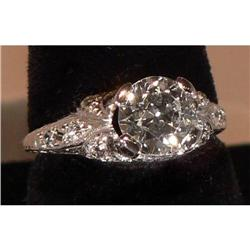 Antique Art Deco Platinum Diamond Ring #2359913