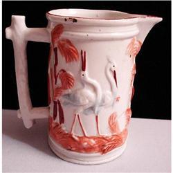 Porcelain 1891 CREAMER - Egrets in Grass #2359925