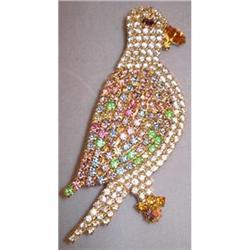 Rhinestone Parrot Pin/Brooch - MegaSPARKLE!! #2359927
