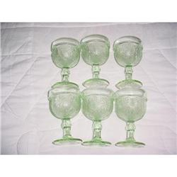 """Daisy"" depression tumblers,  green  #2359931"