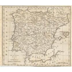 Cary Kingdoms of Spain Portugal 1790 #2359942