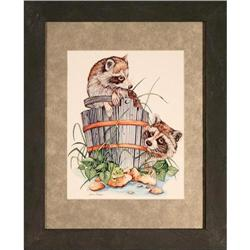 Raccoons on Bucket print signed Bean #2359952