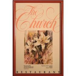 """The Church Restaurant"" - poster print #2359954"