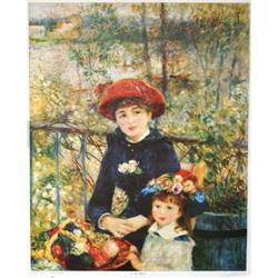 ?On the Terrace? by Renoir - Poster Print #2359955