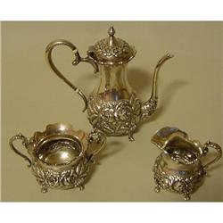 STIEFF STERLING 3-PIECE HAND CHASED REPOUSSE #2359968