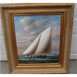 NAUTICAL OIL ON CANVAS BY TAYLER, FRAMED #2359974