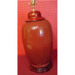 CHINESE EXPORT OXBLOOD VASE CONVERTED INTO LAMP#2359977