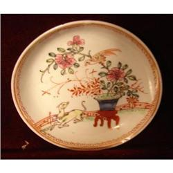 C. 1760 CHINESE EXPORT FAMILLE ROSE SAUCER WITH#2359981