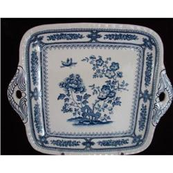 C. 1880 ENGLISH SQUARE PLATE WITH HANDLES #2359982