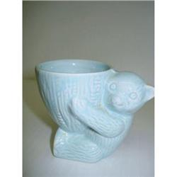 LOVELY FIGURAL EGG CUP - BLUE BEAR #2359997