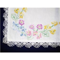 ANTIQUE TABLE RUNNER - EMBROIDERY & LACE #2360005