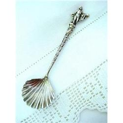 LOVELY FIGURAL SILVER SUGAR SPOON #2 #2360009