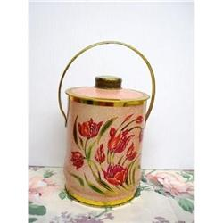 LOVELY VINTAGE - TEA TIN BOX - TULIPS #2360016