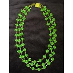 SUPERB 1940's 3 Strand Necklace #2360021