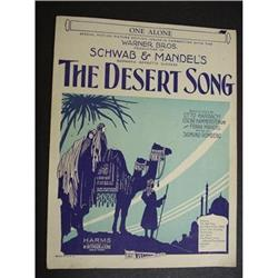 20's SHEET MUSIC-THE DESERT SONG #2360024
