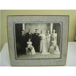 1930's LOVELY LARGE PHOTO WEDDING PARTY #2360045