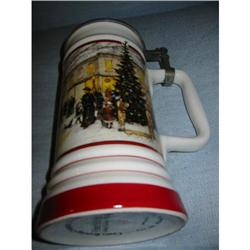 Coors Lidded Stein Winter Scene! #2360071