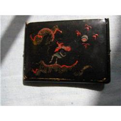 Oriental dragon design hand painted card case! #2360077
