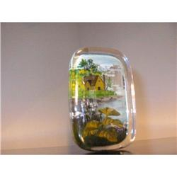 Scenery Hand painted on Glass Paperweight ! #2360089