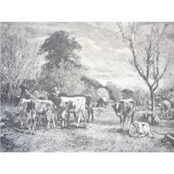 1888 Print - The Weaned Calves/Art & Artists of#2360131