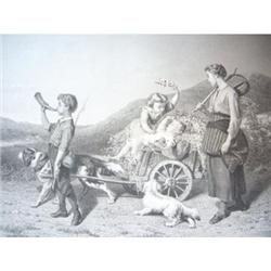 1888 Print - A Triumphal Procession #2360132