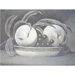 1888 Lithograph/Fox Grapes and Peaches #2360140