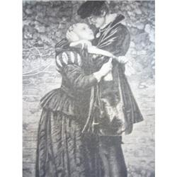 1888 Lithograph/The Hugenot Lovers #2360142